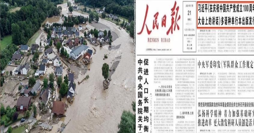 Lũ lụt ở Hà Nam khắp nơi đều thấy xác chết trôi, trang nhất của truyền thông Đảng lại chúc mừng