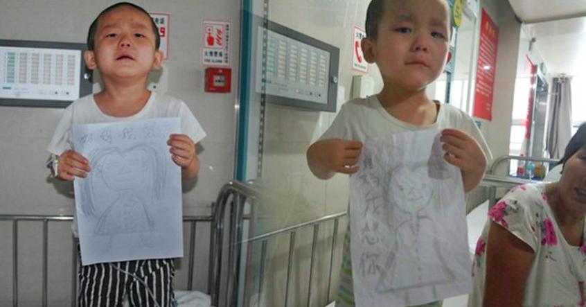 Bị bỏ rơi vì ung thư máu, bé 4 tuổi vẽ tranh mẹ cho đỡ nhớ: 'Nếu con khỏi bệnh, mẹ có về không?'